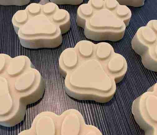 Shaped Sudzy Paws Dog Shampoo bar