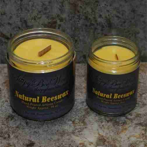 Our Natural Beeswax Candle