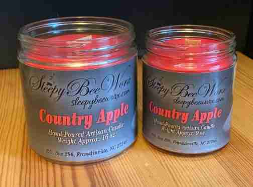 Our Country Apple Candle