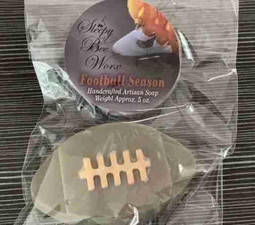 Shaped Football Season Soap