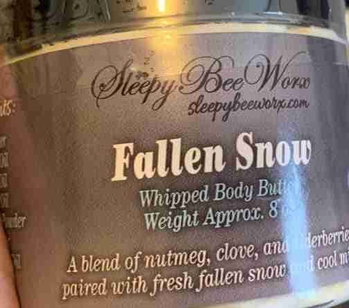 Luxurious and creamy whipped Fallen Snow Body Butter