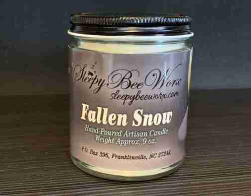 Our Fallen Snow Candle Photo